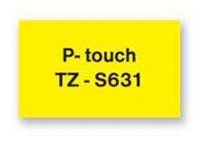 Samolepiaca páska Brother TZe-S631 12mm žltá/čierna