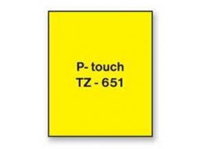 Samolepiaca páska Brother TZe-651 24mm žltá/čierna