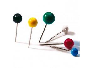 Napichovacie špendlíky guľaté DURABLE 6mm mix farieb 50ks