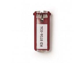 Menovky na kľúče DURABLE KEY CLIP červené 6ks