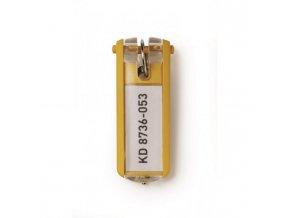 Menovky na kľúče DURABLE KEY CLIP žlté 6ks