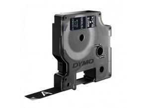 Permanentná vinylová páska Dymo D1 12 mm čierna/biela