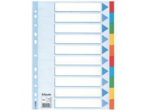Kartónový rozraďovač Esselte 10-dielny farebný