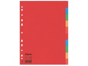 Kartónový rozraďovač Esselte Economy 10-dielny farebný