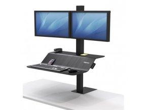 Polohovateľný stojan Sit-Stand Lotus VE pre 2 monitory