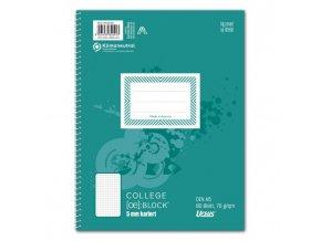 Blok College Format Werk Ursus Basic A5 80 listov štvorčekový 70g