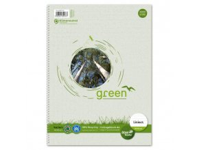 Blok College Format Werk Ursus Green A4 80 listov linajkový 60g recyklovaný