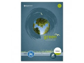 Blok poznámkový Format Werk Ursus Green A4 50 listov linajkový