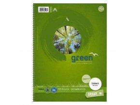 Blok College Format Werk Ursus Green A4 80 listov linajkový 70g recyklovaný
