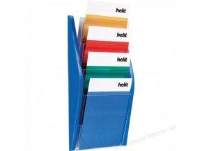 Prezentačný stojan Helit 4xA4 modrý