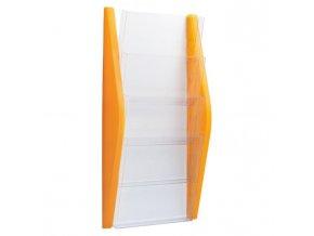 Prezentačný stojan Helit 4xA4 oranžový
