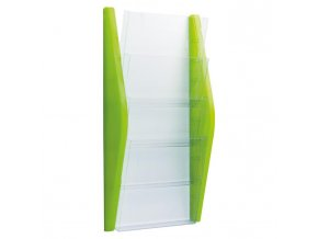 Prezentačný stojan Helit 4xA4 zelený