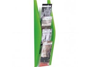 Prezentačný stojan Helit 4x1/3A4 zelený