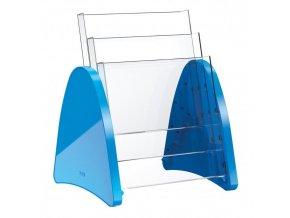 Prezentačný stojan Helit Parabel A4 modrý