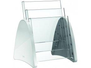 Prezentačný stojan Helit Parabel A4 svetlosivý