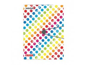 Plastový obal s gumičkou Herlitz Smiley World Rainbow A4 PP