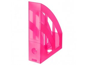 Stojan na časopisy Herlitz transparentný ružový