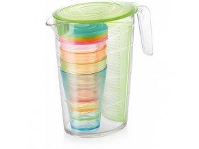 Džbán myDRINK 2,5l a 4 poháre, zelená