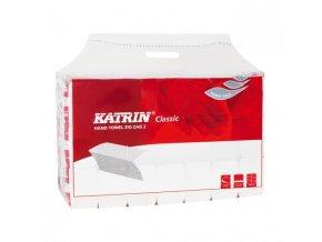 Papierové uteráky skladané ZZ 2-vrstvové KATRIN Classic Handy pack biele