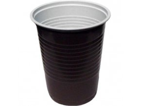 Poháre plastové na kávu 180ml 100ks hnedo-biele
