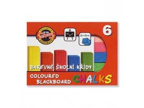 Krieda školská, 6 farieb