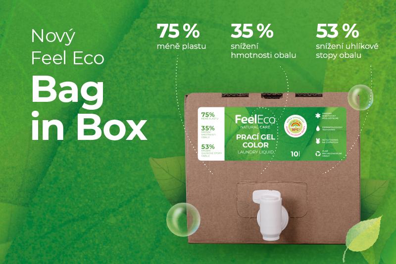 Feel Eco snižuje množství plastu s novým balením produktů v Bag in Boxech