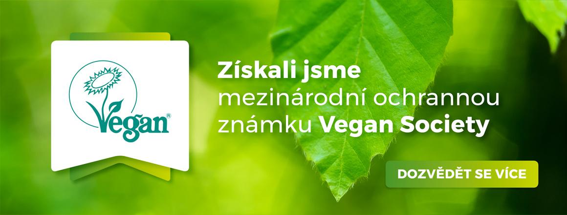Získali jsme mezinárodní ochrannou známku Vegan Society