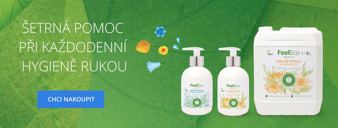 Feel Eco mýdlo - Šetrná pomoc při každodenní hygieně rukou