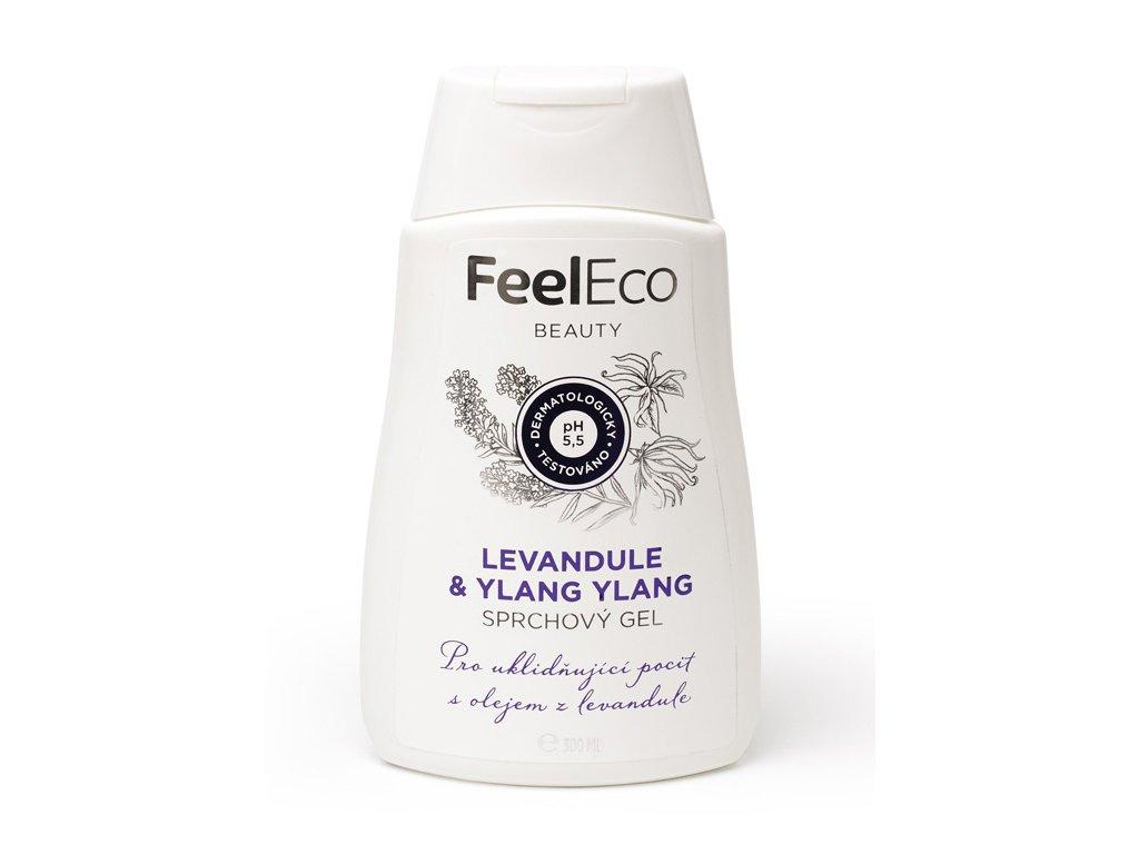 FEEL ECO Sprchový gel LEVANDULE & YLANG-YLANG 300ml