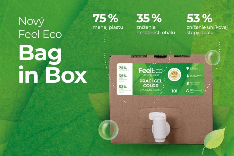 Feel Eco znižuje množstvo plastu s novým balením produktov v Bag in boxoch