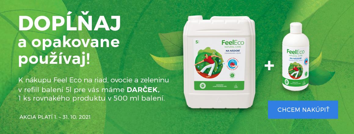 Feel Eco Akce 5l prostředek na nádobí + dárek balení 500 ml