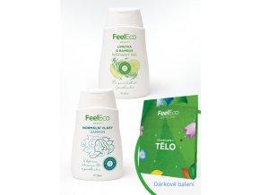 Darčekový balíček s kozmetikou Feel Eco a darčekovou krabičkou