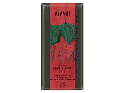 VIVANI Bio EDIZIONE GRANDE hořká čokoláda CHILI 100 g