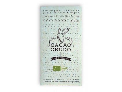 Cacao Crudo - Dark chocolate 80%, Raw & Bio 50g