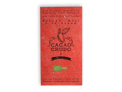 Cacao Crudo - Goji a Pohanka (Cacao 63%), Raw & Bio 50g