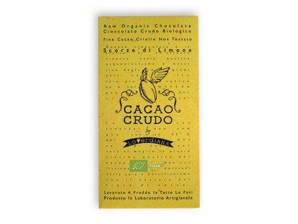 Cacao Crudo - Citrón (Cacao 77%), Raw & Bio 50g