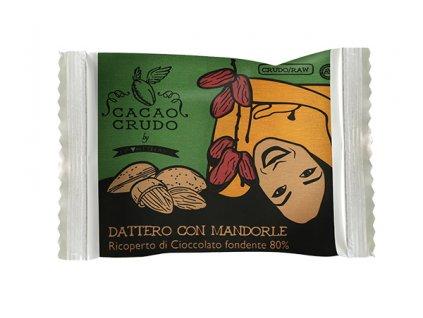 Datle Medjool s mandlemi v hořké čokoládě, bio - Cacao Crudo 25 g