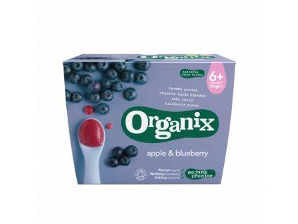 Jablečno-borůvková přesnídávka 6+, Bio -  Organix , 4 x 100g