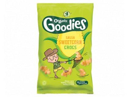Kukuřičné lupínky - Krokodýli (Sweetcorn Salsa Crocss) Bio - Organix , 4 x 15 g