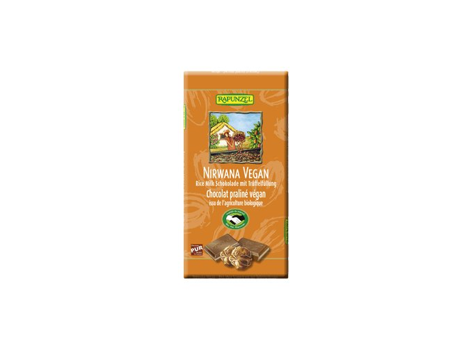 Bio NIRWANA VEGAN čokoláda s náplní RAPUNZEL 100g