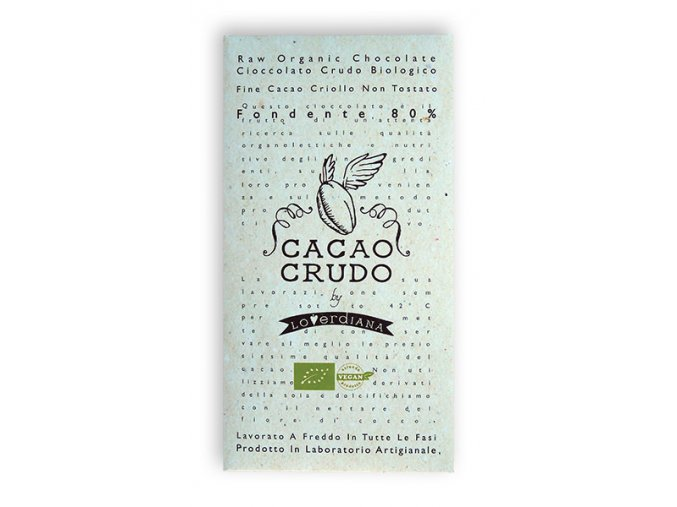 Cacao Crudo - Dark chocolate 80%, Raw & Bio 50 g