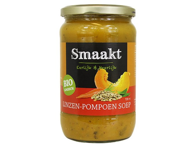 Čočkovo-dýňová polévka, bio –Smaakt, 720ml