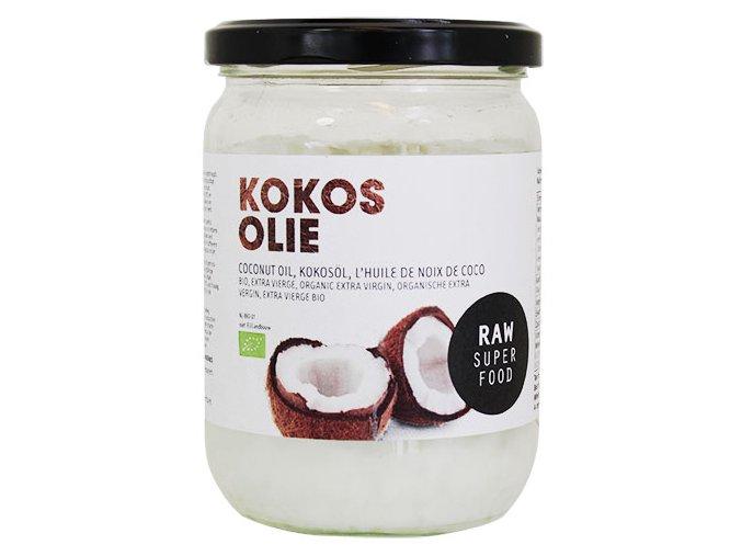 Raw extra panenský kokosový olej, bio – Raw Organic Food, 400g