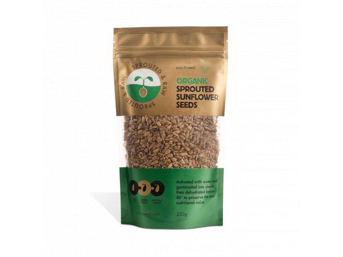 Naklíčené slunečnicové semínko, bio, raw - Sun & Seed, 250 g