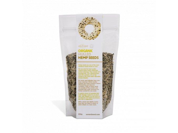 Loupaná bio konopná semínka, 250 g