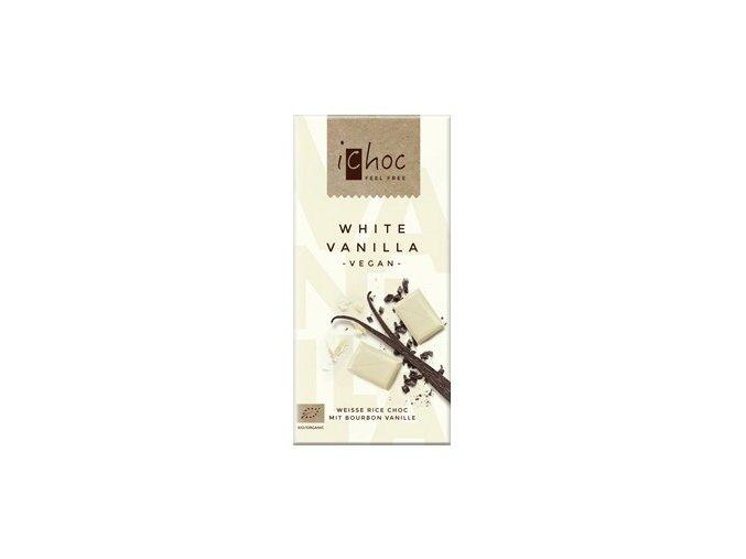 iChoc - Rýžová čoko bílá s vanilkou 80g