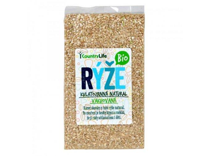 Rýže kulatozrnná pololoupaná vakuovaná 1 kg Bio