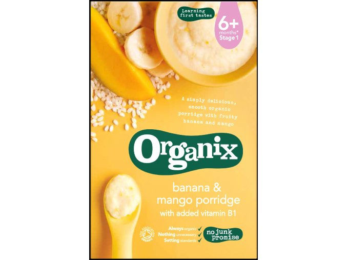 Kaše z banánů a manga - Organix, 120 g