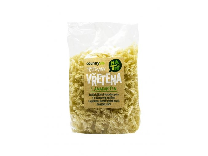 Těstoviny bezlepkové vřetena amarantová 300 g