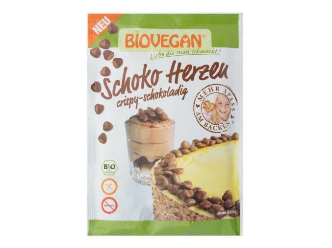 Zdobení srdíčka čokoládová bezlepková BIO (35g) Biovegan